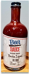 BEER SAUCE SHOP - Bourbon Infused 24.4 oz. We start with a proven sweet St. Louis style BBQ sauce and add a good amount of Stumpy's Spirits Bourbon during the brewing process.