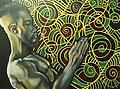"KB10 Visual Art ""Pray"" - Kevin Bell ""Pray"" Acrylic on Wood 18x24"