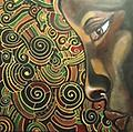 "KB11 Visual Art ""Ancient Voices"" - Kevin Bell ""Ancient Voices"" Acrylic on Wood 24x24"