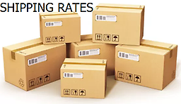 A SHIPPING RATE GUIDE COMPLETELY TRANSPARENT - LOW DOMESTIC SHIPPING RATES - WITH NO SURPRISES