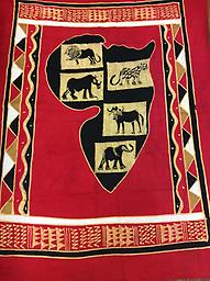 AM-WH-01 Wallhanging Anneta McCoy for Shop Afrika - 67x56 wallhanging of 100% cotton hand painted in Zimbabwe