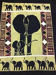 AM-WH-02 Wallhanging Anneta McCoy for Shop Afrika - 73x60 wallhanging of 100% cotton hand painted in Zimbabwe