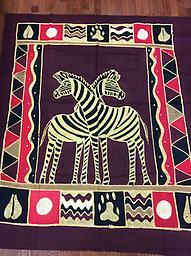 AM-WH-06 Wallhanging Anneta McCoy for Shop Afrika - 70x60 wallhanging of 100% cotton hand painted in Zimbabwe