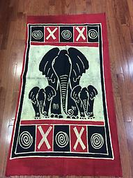 AM-WH-10 Wallhanging Anneta McCoy for Shop Afrika - 61x33 wallhanging of 100% cotton hand painted in Zimbabwe
