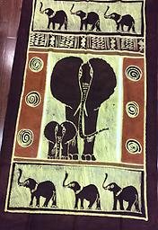AM-WH-16 Wallhanging Anneta McCoy for Shop Afrika - 59x34 wallhanging of 100% cotton hand painted in Zimbabwe