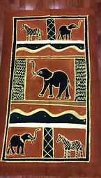 AM-WH-18 Wallhanging Anneta McCoy for Shop Afrika - 58x35 wallhanging of 100% cotton hand painted in Zimbabwe