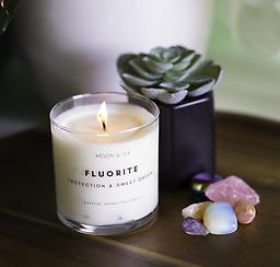 Fluorite Crystal Intention Candle Fluorite Crystal Intention Candle