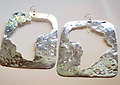 KN102-118 Earrings - Anu Rock by Kodwo Nwalla - Africa cutouts in Silver