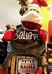 "Raffle to Win a Giant Holiday Huggle - Enter for a chance to win our GIANT Hugglehounds Holiday ""Believe"" Santa Monkey!"