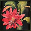 Orchid Cactus Serving Tray - Whether used for the sole purpose of decoration or functionally as a tray, you'll love this vivid high quality lacquer art tray. Makes a fantastic gift!