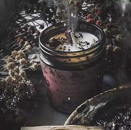 Tea With Marie Laveau CANDLE, Comes in a 9oz jar filled with 7oz of magical coconut wax.