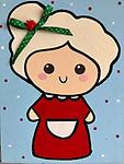 """MRS. CLAUS - 9 x 12"""" Paint Pack *PICK-UP AT STUDIO. WE WILL EMAIL YOU TO ARRANGE PICK-UP ONCE ORDER IS RECEIVED."""