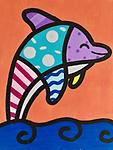"""DOLPHIN - 9 x 12"""" Paint Pack *PICK-UP AT STUDIO. WE WILL EMAIL YOU TO ARRANGE PICK-UP ONCE ORDER IS RECEIVED."""