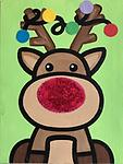 """REINDEER - 9 x 12"""" Paint Pack *PICK-UP AT STUDIO. WE WILL EMAIL YOU TO ARRANGE PICK-UP ONCE ORDER IS RECEIVED."""