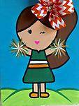 """CHEERLEADER - 12 x 16"""" Paint Pack. Please request team colors at checkout. *PICK-UP AT STUDIO. WE WILL EMAIL YOU TO ARRANGE PICK-UP ONCE ORDER IS RECEIVED."""