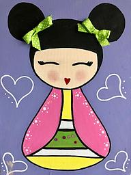 """JAPANESE DOLL 12 x 16"""" Paint Pack *PICK-UP AT STUDIO. WE WILL EMAIL YOU TO ARRANGE PICK-UP ONCE ORDER IS RECEIVED."""