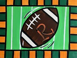 "LET'S PLAY FOOTBALL 12 x 16"" Paint Pack