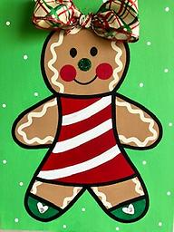 """GINGERBREAD GIRL 12 x 16"""" Paint Pack *PICK-UP AT STUDIO. WE WILL EMAIL YOU TO ARRANGE PICK-UP ONCE ORDER IS RECEIVED."""