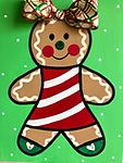 """GINGERBREAD GIRL - 12 x 16"""" Paint Pack *PICK-UP AT STUDIO. WE WILL EMAIL YOU TO ARRANGE PICK-UP ONCE ORDER IS RECEIVED."""