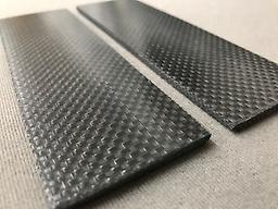 "Aluminum Wire Lightning Strike Carbon 3/8"" Aerospace grade carbon fiber with aluminum wire woven into every strand. Custom Made for Composite Craft, this material is very easy to machine and sand which results in a very smooth surface."