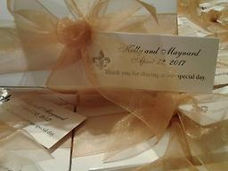 Taste of New Orleans! Elegant Wedding Favors. (per 50 ct.) Elegant Wedding Favors for Your Special Day. Send your wedding guests home with the splendid Taste of New Orleans, Rosalyn's Pralines. A favor tied in perfect delight!