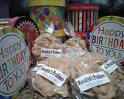 Happy Birthday Pralines Make that birthday special by sending a taste of New Orleans' past, present, and future, Rosalyn's Pralines. Rich creamy and chock-full of pecans, these delectable delights are made to order.