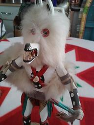 """""""Kachina Doll"""" A beautiful carved KACHINA DOLL, signed... by R. Livingston Approximately 12 inches tall"""