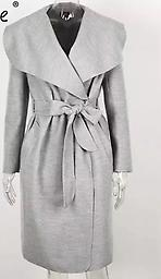 Gray Wrap Coat This will be a staple for your fall into winter coat options.