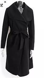 Black Wrap Coat You will always look great in this classic black coat.