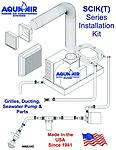 SCIK-05 Installation Kit for 5,000 BTUH Self Contained Unit 115-1-60 - All the components necessary to install a SSIG-05 including supply and return grille, flex duct, seawater pump and seawater components