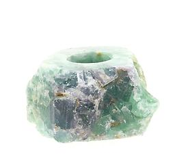 Fluorite Rough Candle Holder Raw Crystals & Minerals