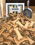 Biscuit Bar Biscuits-Bacon 100% Natural - Our POPULAR biscuit bar biscuits are now available for online ordering. Choose your dogs favorite variety for them to enjoy when you can't visit us. Locally made in MA, WHEAT, CORN & SOY FREE!