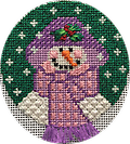 January 2019 Snowman Ornament - Exclusive Diversions Needlepoint hand painted canvas, threads and stitch guide by Mary Lou Kidder and Mandy Adams. SHIPPING INCLUDED!