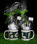 GOLF Candy Mug - 12oz GOLF Mug with Golf Ball Mint Candy, Golf Club Pen, Divot Repair Tool with Ball Marker and Golf Tees