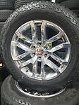 """2019 Style GMC Sierra 1500 Polished Rims & Tires New Take Off - This is a factory set of GMC Sierra / Yukon 20"""" rims and AT tires. These were removed from a new 2019 truck and have less than 25 miles on them."""