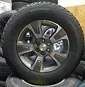 "17"" Chevy Colorado Z71 Alloy Wheels & Tires New Take Off w/ TPMS - Less than 15 miles on this set of factory rims and tires. Goodyear Wrangler Adventure with Kevlar. p255/65R17 tires with 100% tread!"