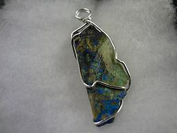 Azurite with malachite and turquoise wrapped 48 Azurite with malachite and turquoise wrapped 48