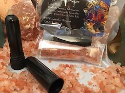 Himalayan Salt Inhalers Himalayan Salt Therapy Inhalers: Travel size (easy to carry size) fits perfect in your pocket or purse. For Respiratory Therapy ON THE simply remove lid, place close to nose or mouth and breath deep.