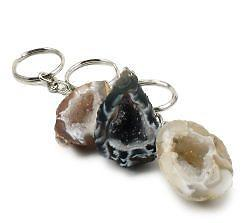Agate Geode Key Chain Raw Crystals & Minerals