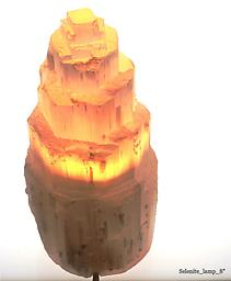 Selenite Lamp - 8'' High Raw Crystals & Minerals
