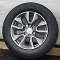 "20"" Chevy Charcoal (2019 style) Rims & Bridgestone AT Tires Complete - This set of wheels & tires has less than 650 miles on them. The new 2019 style wheels with p275/60R20 Bridgestone Dueler At tires. The set also includes the lug nuts and tpms (08-18)."