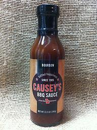 Causey's Bourbon BBQ Sauce Small batch, slow pouring, smooth bourbon flavors and a finish of thick molasses creates Causey's succulent BBQ sauce.