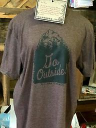 Go Outside Tee Go Outside Outdoor Graphic Tee