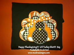 Happy Thanksgiving!!! L/S Turkey Tshirt... you pick colors!!! Welcome the holidays in style!