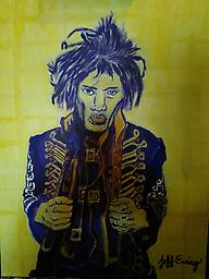 Forever 27-Jimi Hendrix A painting of Jimi Hendrix as he was one of the greatest guitarists of al time. Created by Atlanta Artist Jeff Ewing
