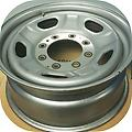 """Steel F250 F350 sw 17"""" Rims Caps - Set of four factory steel wheels and center caps. Painted silver wheels. Fits 05-17 trucks."""