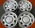 """17"""" Factory Ford F150 Steel Wheels Caps - Set of four take off Ford F150 rims and center caps. Painted gray steel."""