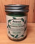 BALANCE Aromatherapy Soy Candle - Clean Burning Soy Candles with 100% Pure Essential Oils of BASIL, LEMONGRASS, GRAPEFRUIT & PATCHOULI - Green candle with Earthy/Exotic Aroma!