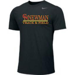 CN Track Men's Short Sleeve Black Tee Nike Men's Short Sleeve Dri-Fit Legend Tee with 2-color front logo