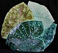 Multi-Leaf Platter - Turquoise - Hand-built, original art piece that is food safe. Available in many finishes.